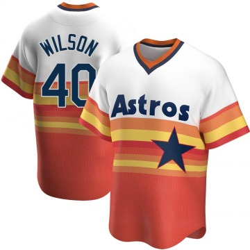 Replica Don Wilson Men's Houston Astros White Home Cooperstown Collection Jersey